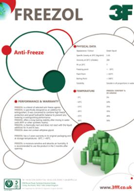 Freezol antifreeze data sheet