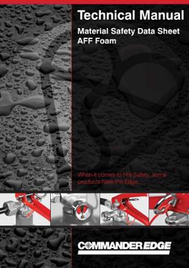 Material safety data sheet AFF foam